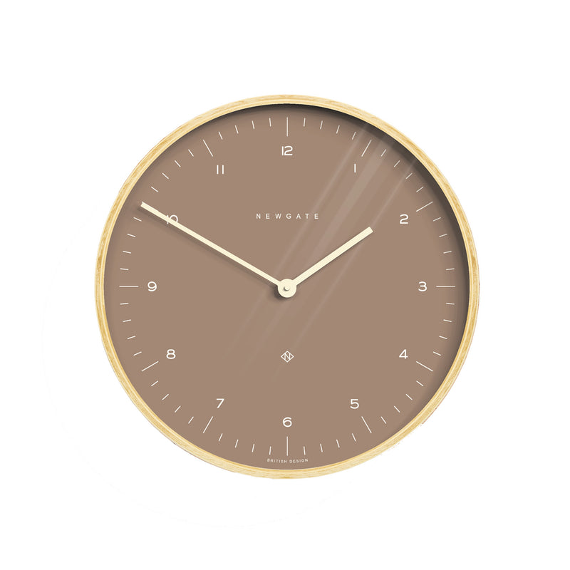 Mr. Clarke Wall Clock - Burnt Sienna