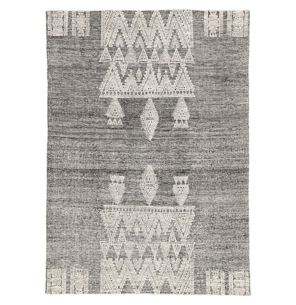 Sienna Grey/White Rug