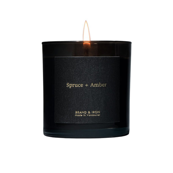 Spruce + Amber Boxed Candle