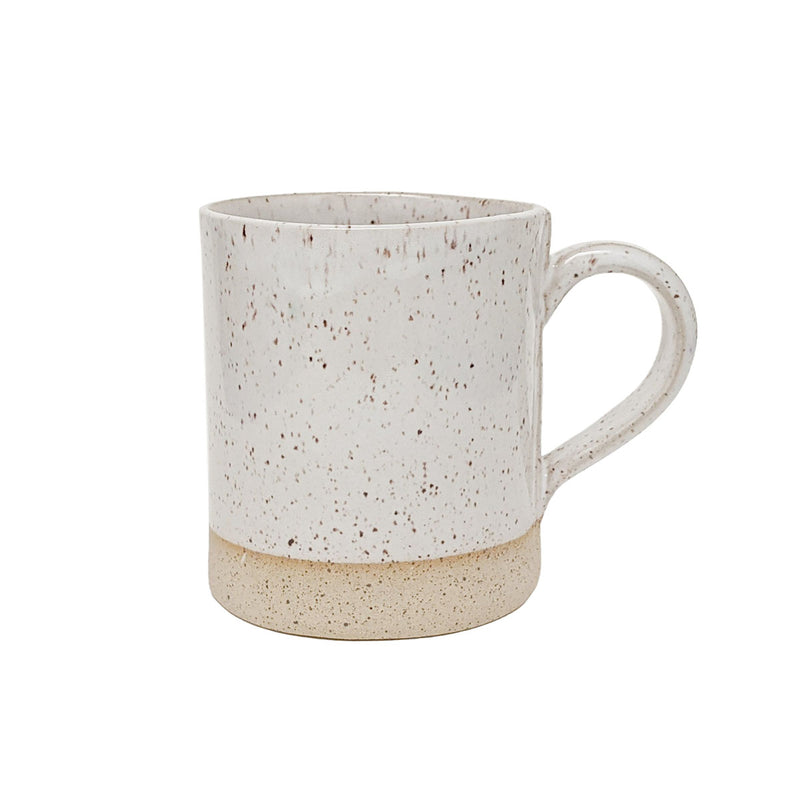 Fatima White Speckled Mugs