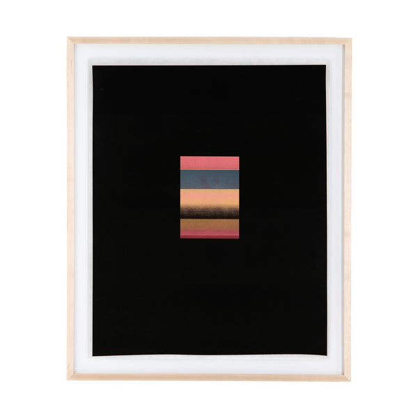 Sunset Stripe Framed Print