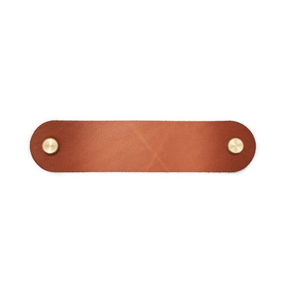 Leather Drawer Pull - Tan