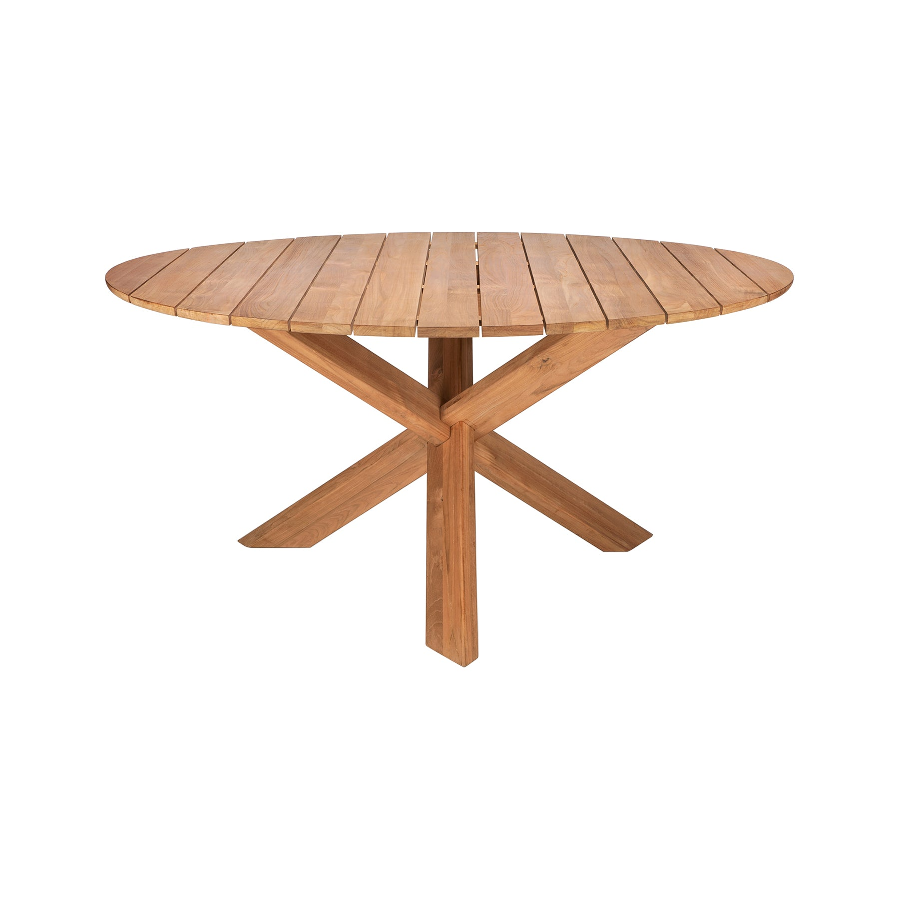 Teak Circle Outdoor Dining Table Ld Shoppe