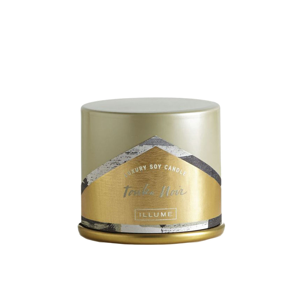 Tonka Noir Demi Tin Candle