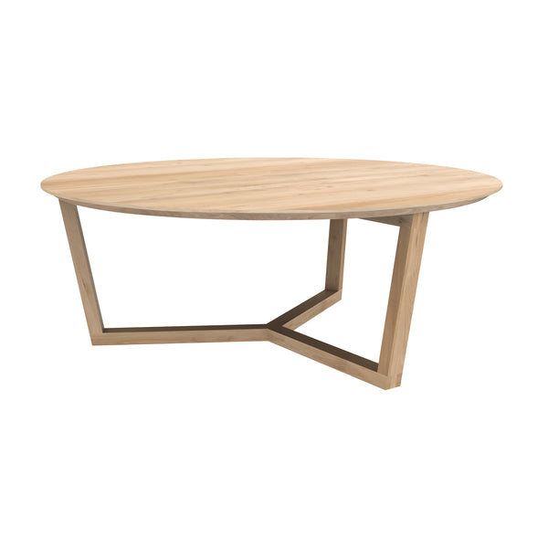 Oak Tripod Coffee Table