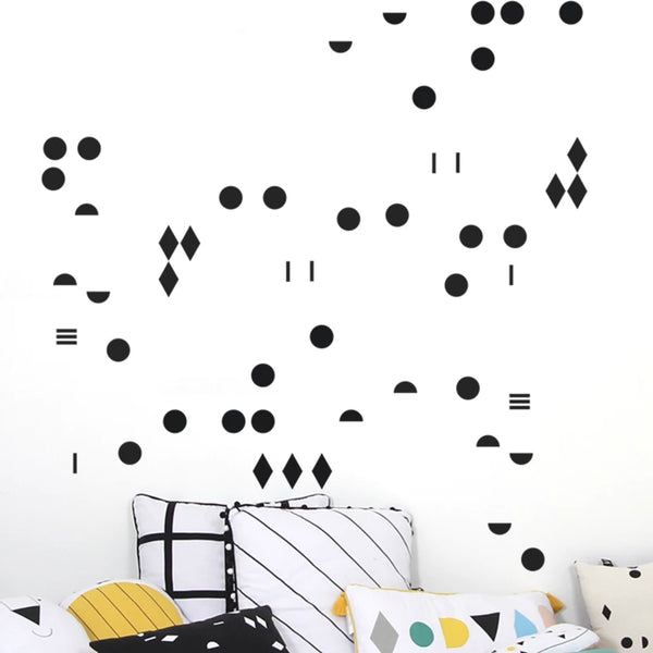 Black Shapes Wall Decals