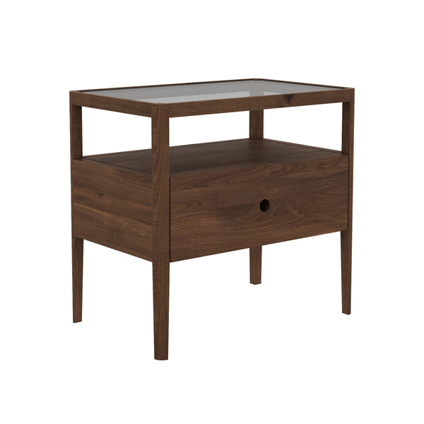 Walnut Spindle Nightstand