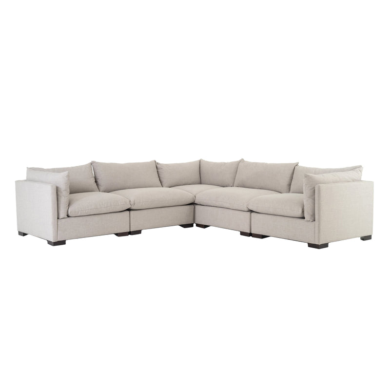 Westend 5 Piece Sectional - Moon Grey