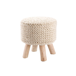 Westport Pouf Stool - Ivory