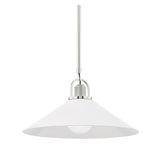 Siorese Pendant - White/Nickel