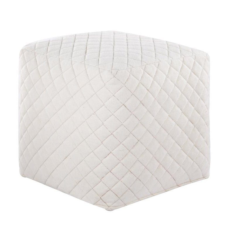 Ultra Pouf - White Wool