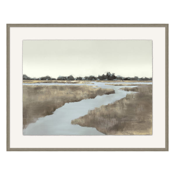 Winding Marsh Framed Print