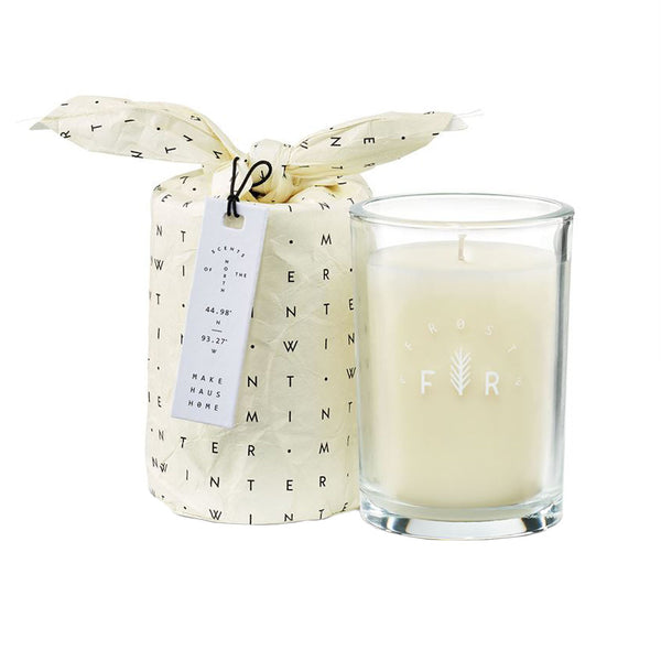 Winter Mint Bagged Glass Candle