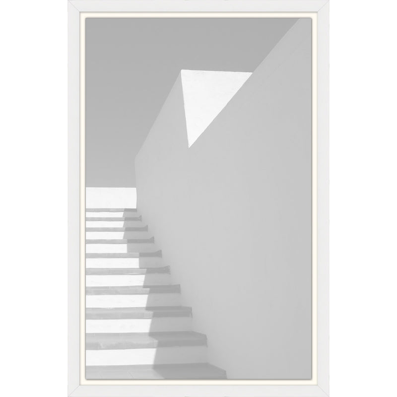 Monochrome Stairs Framed Print