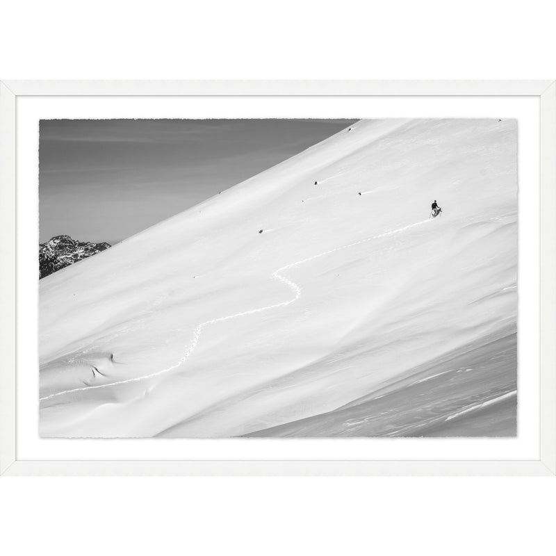 No Chairlifts Here Framed Print