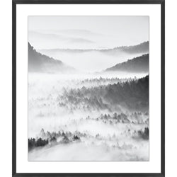 Layered Mountain Fog 1 Framed Print