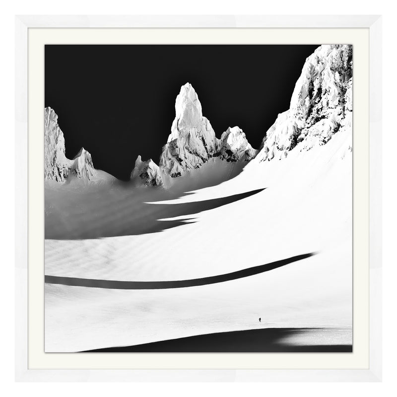 Black and White Peak Framed Print