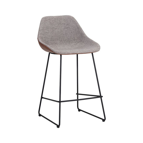 Yoco Counter Stool - Grey/Brown