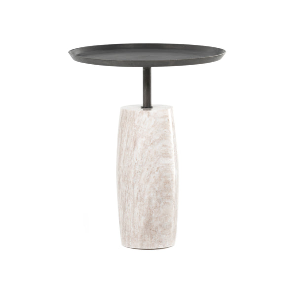 Lilly Side Table - Grey Marble