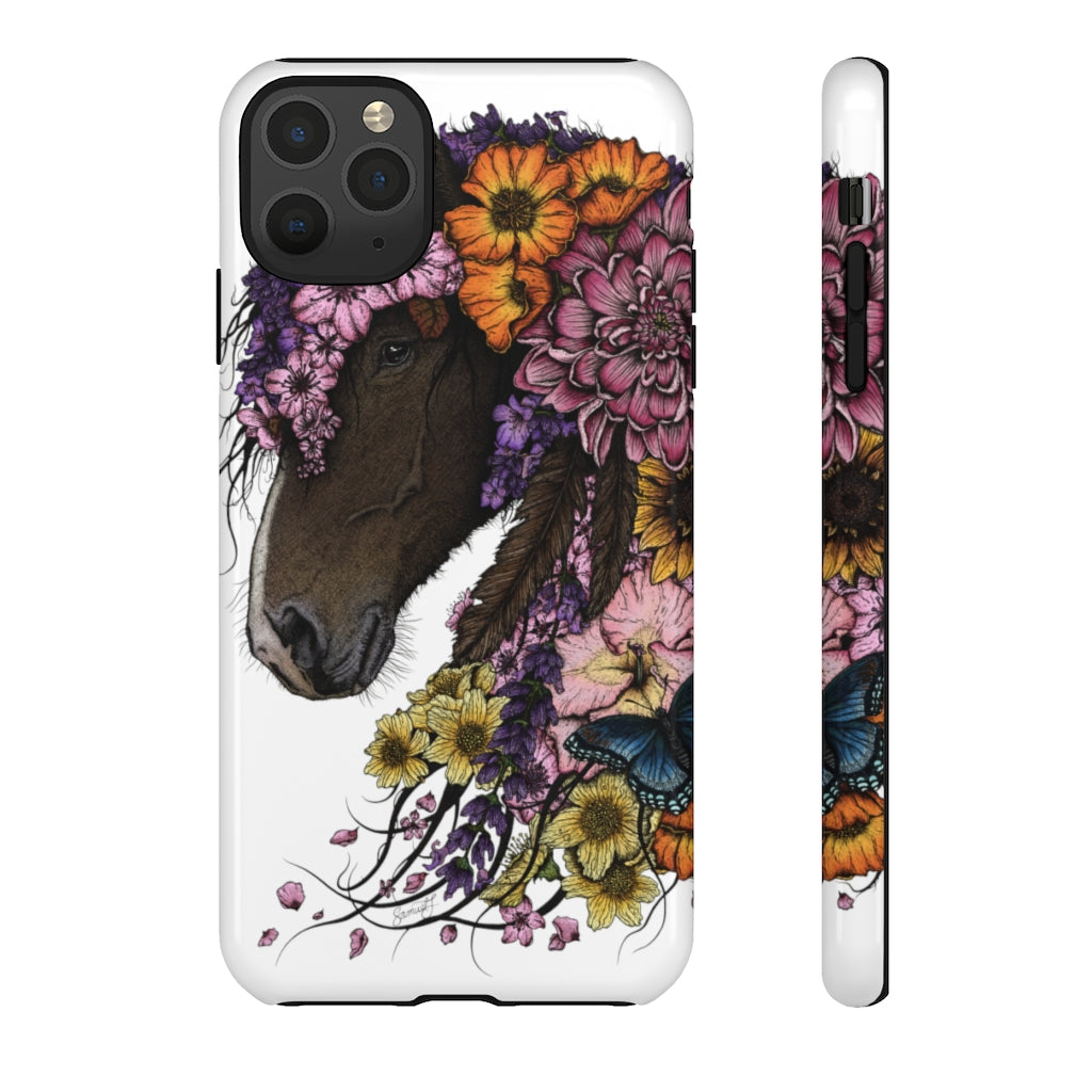 Tough Cases - Colour Floral Horse