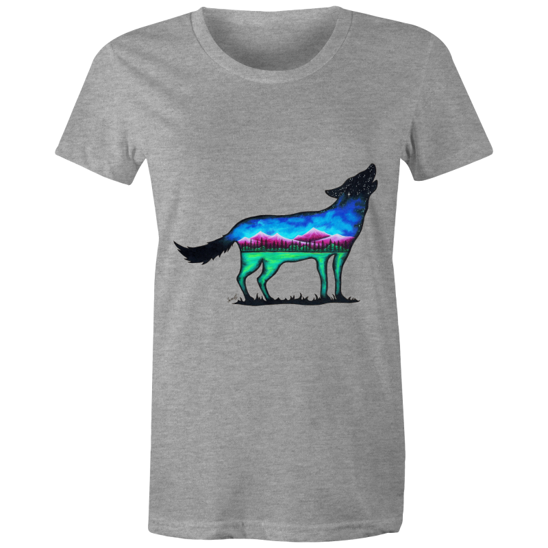 Womens T-Shirt - Mountain Wolf - Front Print
