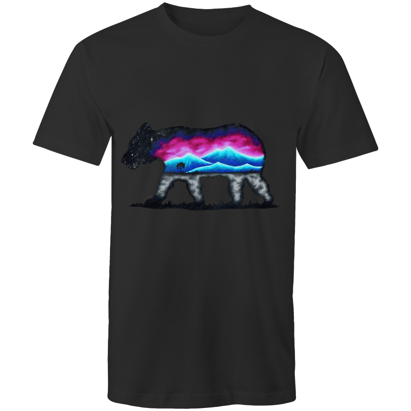 Mens T-Shirt - Mountain Bear - Front Print