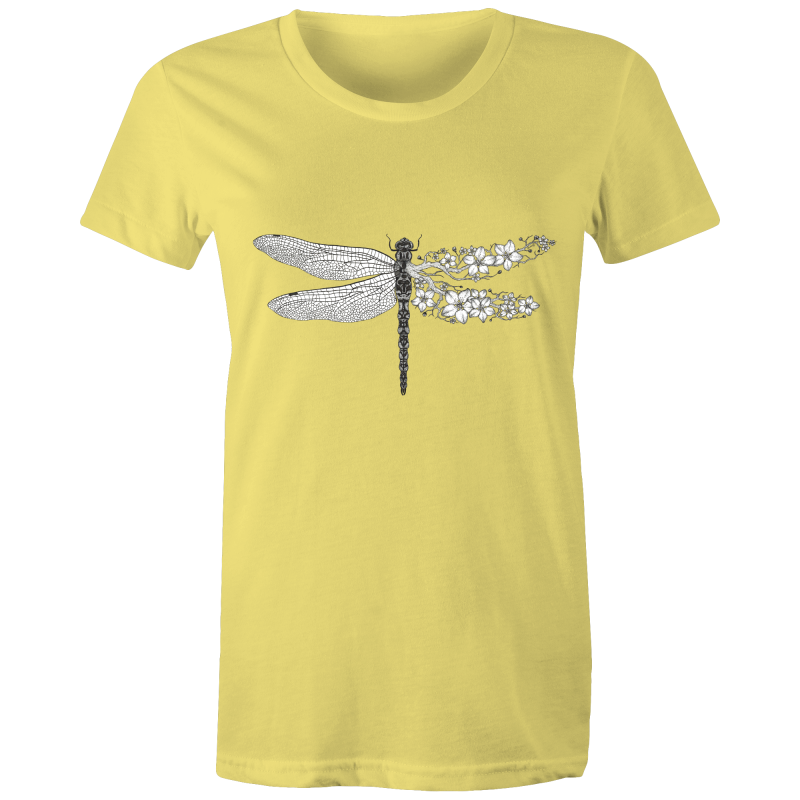 Womens T-Shirt - Blossom Dragonfly - Front Print