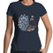 Womens T-shirt - 'Majestic Peacock' - Front