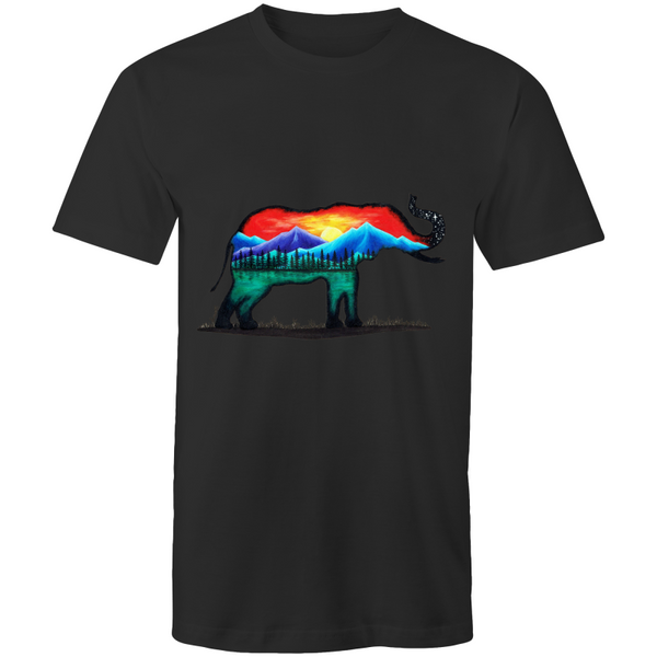Mens T-Shirt - Mountain Elephant - Front Print