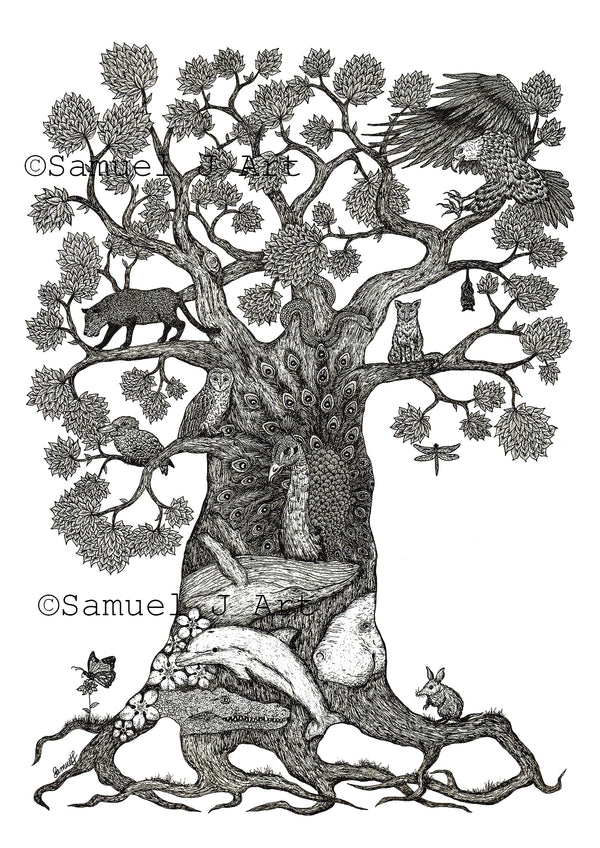 'Tree of Animals II' - Prints