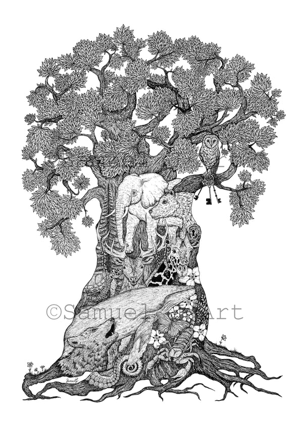 'Tree of Animals' - Prints