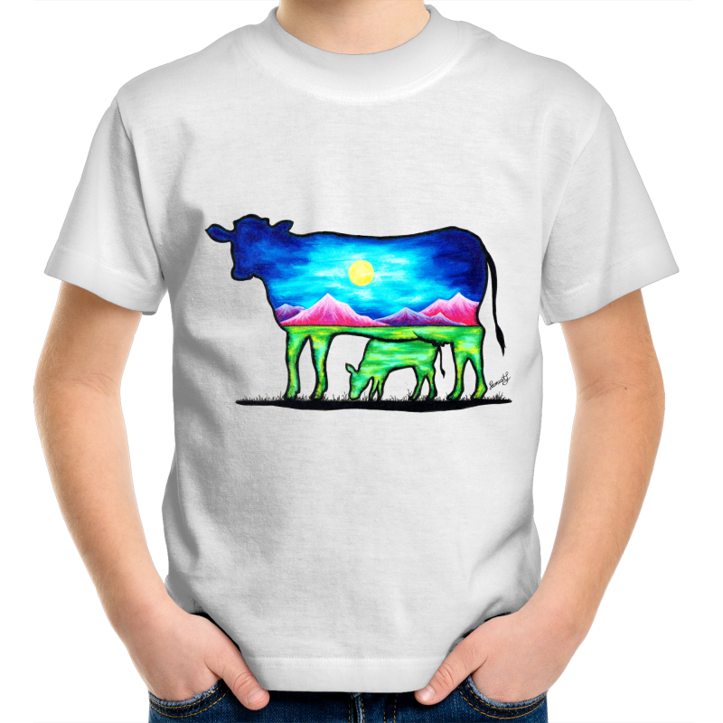Kids T-Shirt - Cow and Calf - Front Print