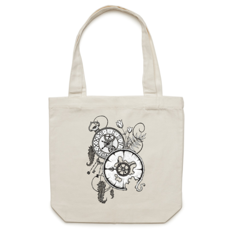 Canvas Tote Bag - Clocks - Double Sided
