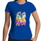 Sportage Surf - Womens T-shirt - Blue, Yellow & Purple 'Wise Owl' - Front