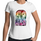 Womens T-shirt - Rainbow 'Wise Owl' - Front