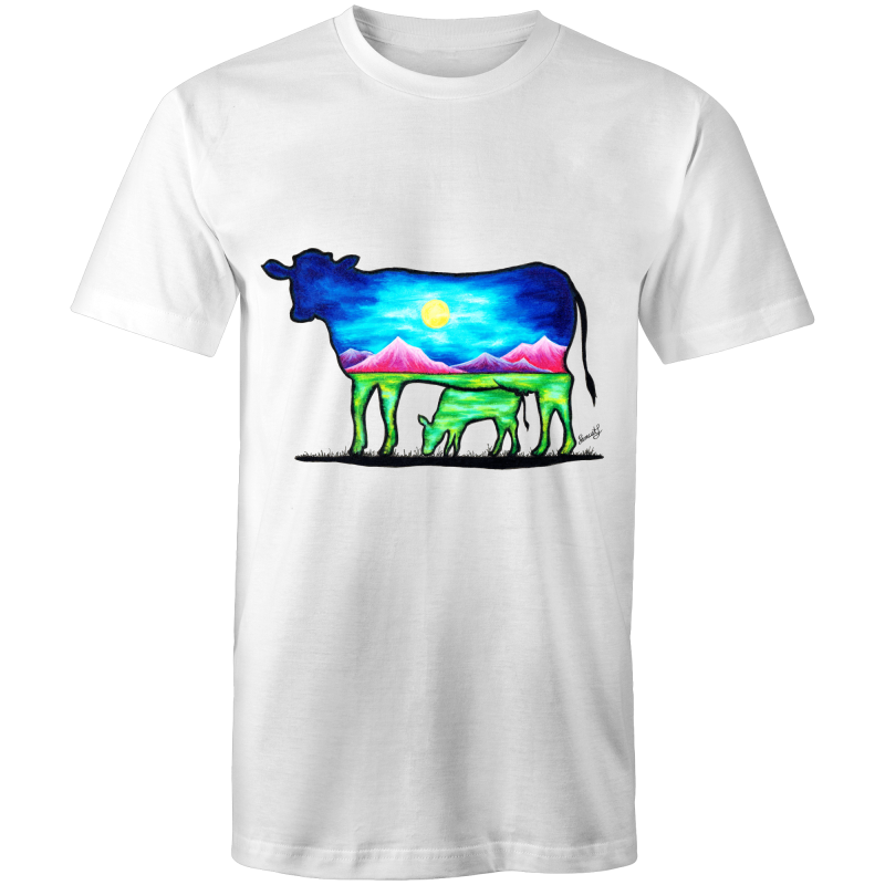 Mens T-Shirt - Cow & Calf - Front Print