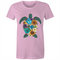 Womens T-shirt - Colour Floral Turtle - Front Print