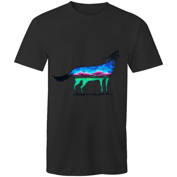 Mens T-Shirt - Mountain Wolf - Front Print