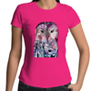 Sportage Surf - Womens T-shirt - Purple 'Wise Owl' - Front