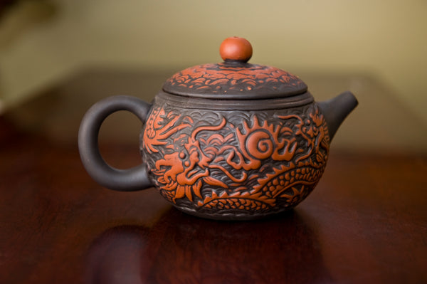 Yixing Clay Dragon Tea Pot