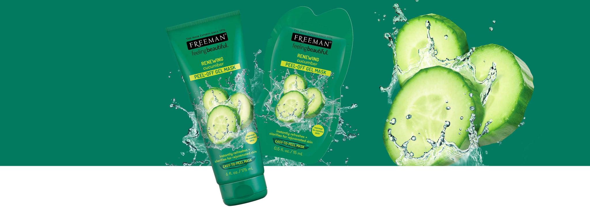Instantly refreshes + clarifies for rejuvenated skin [left]