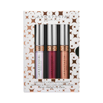 Anastasia Beverly Hills Mini Metallic Liquid Lipstick 3-Piece Set