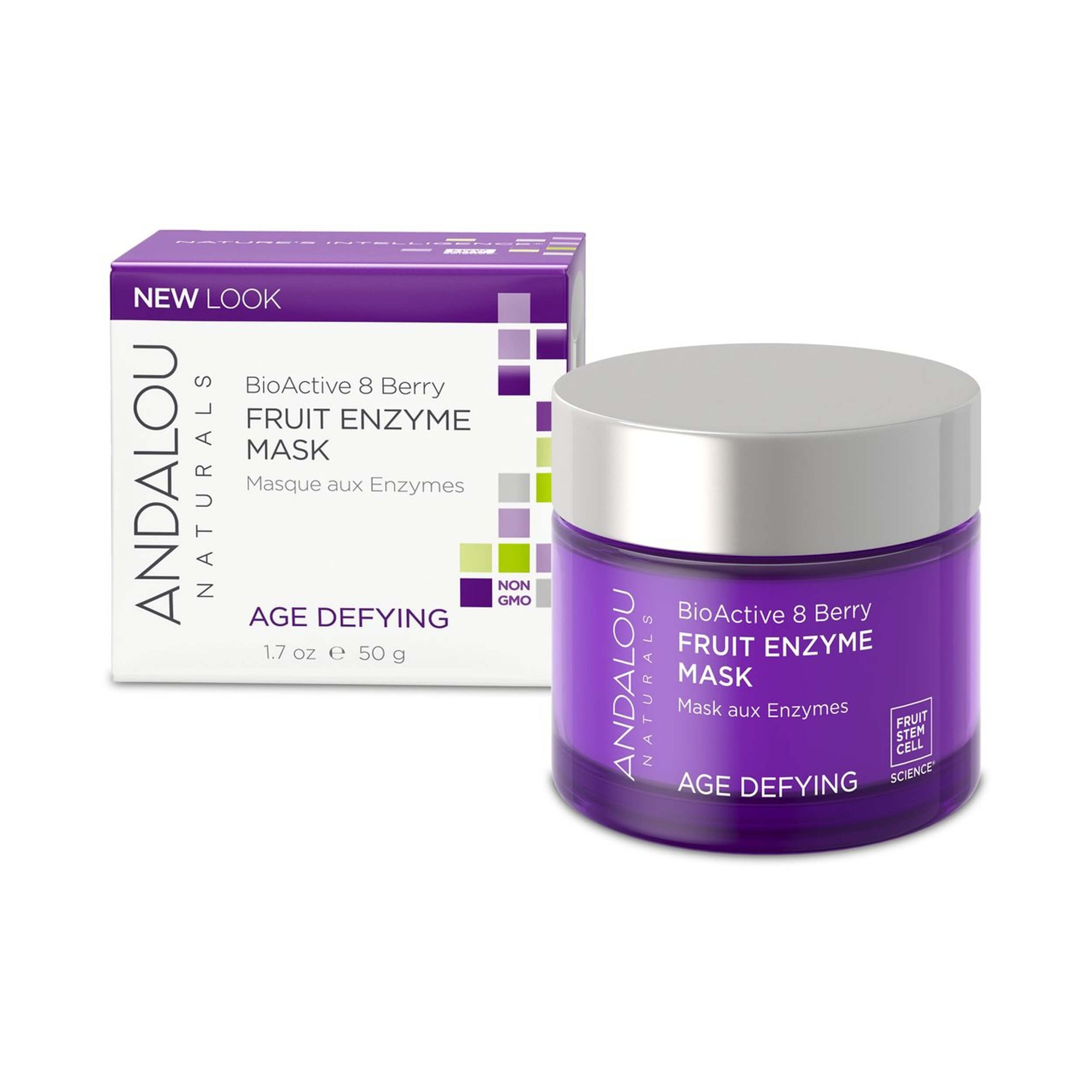 Andalou Naturals Age Defying Bioactive 8 Berry Fruit Enzyme Mask 50g