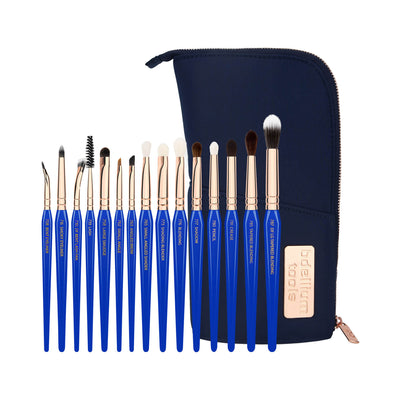 BDellium Tools Golden Triangle Eyes Only Complete 15pc Brush Set With Pouch