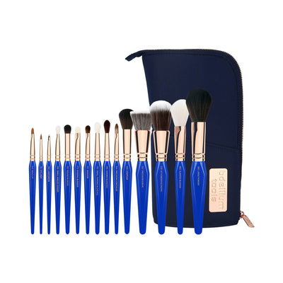 BDellium Tools Golden Triangle Phase I Complete 15pc Brush Set With Pouch