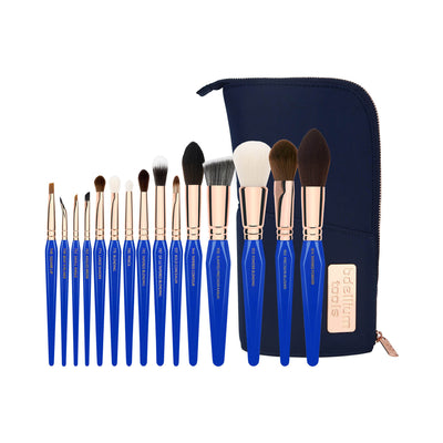 BDellium Tools Golden Triangle Phase II Complete 15pc Brush Set With Pouch