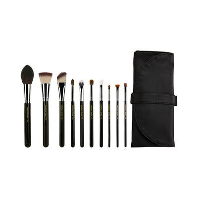 BDellium Tools Maestro The Key Essential 10pc. Brush set with Roll-up Pouch