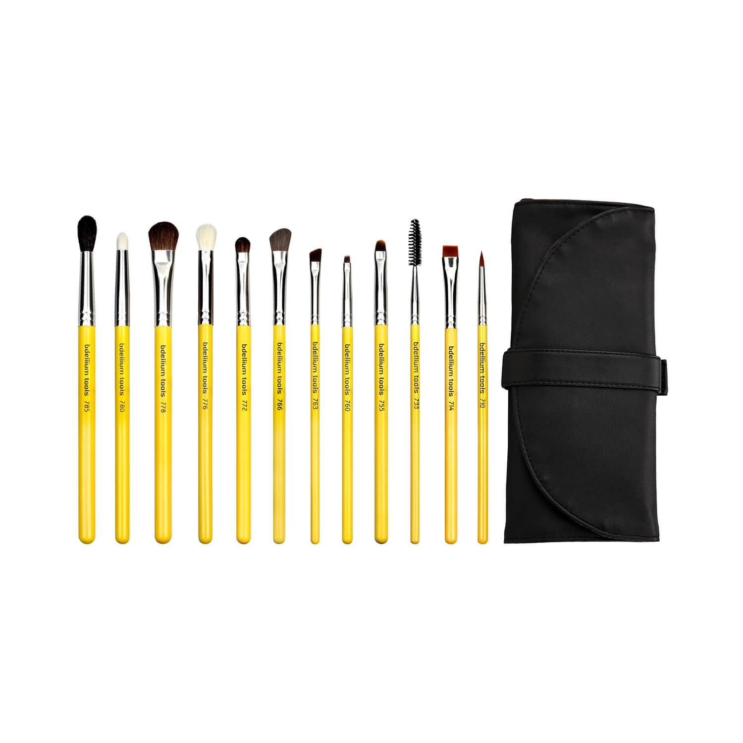 BDellium Tools Studio Eyes 12pc. Brush Set with Roll-up Pouch