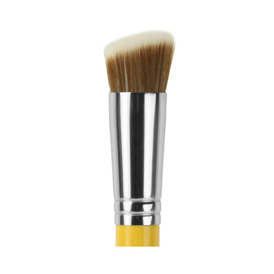 BDellium Tools Studio Line 954 Duet Fiber Slanted Kabuki Brush Yellow Head