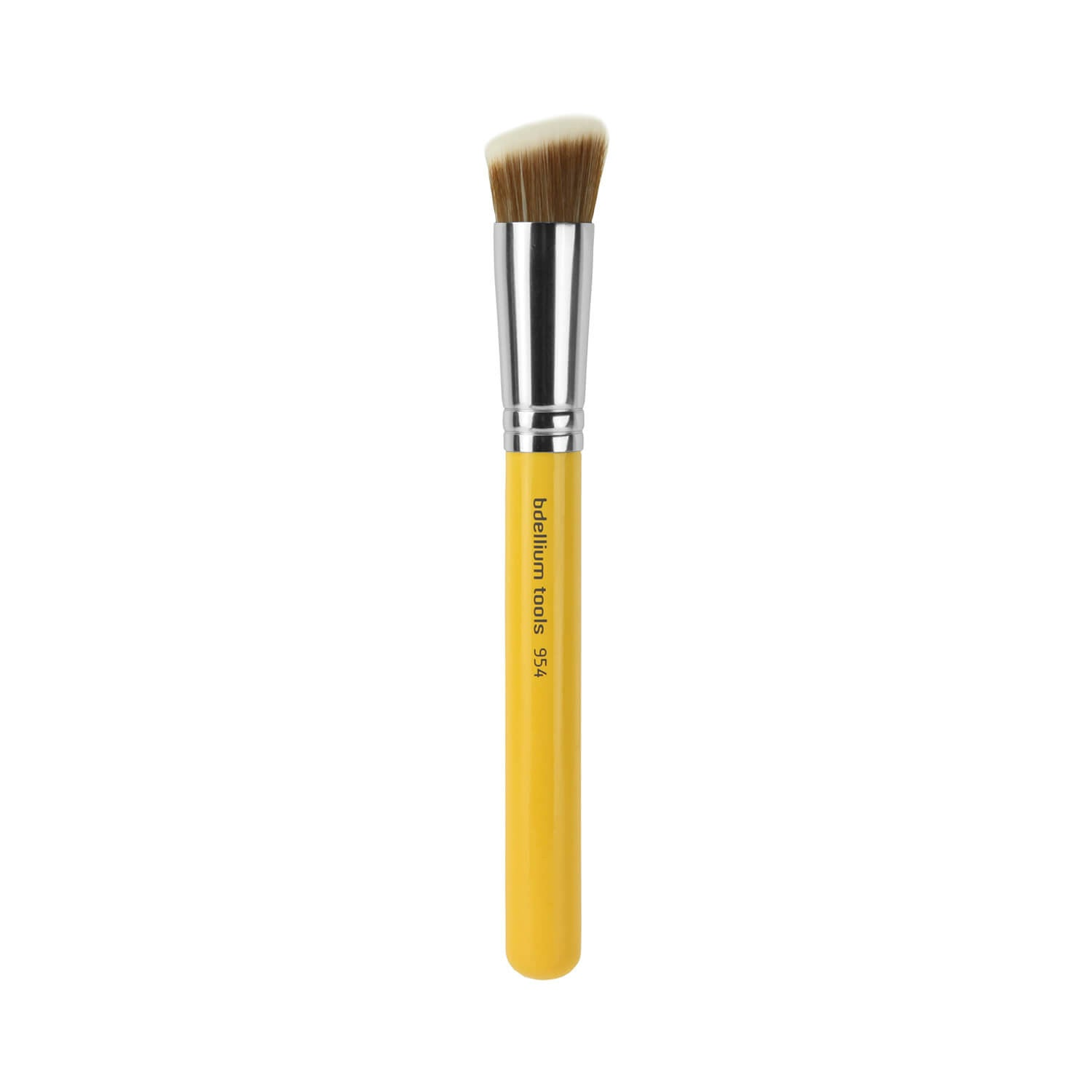 BDellium Tools Studio Line 954 Duet Fiber Slanted Kabuki Brush Yellow